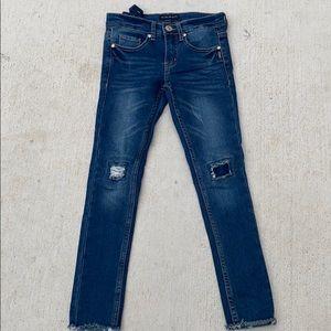 Silver Jeans Co. Amy 8 Girls Distresses Denim Jean